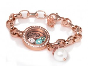 Origami Owl SpringSpring is Coming - Rose gold Daisy Charm Bracelet