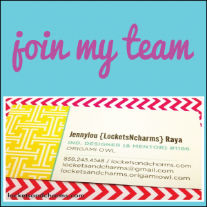 Join Origami Owl with Jennylou Raya Independent Designer 1186