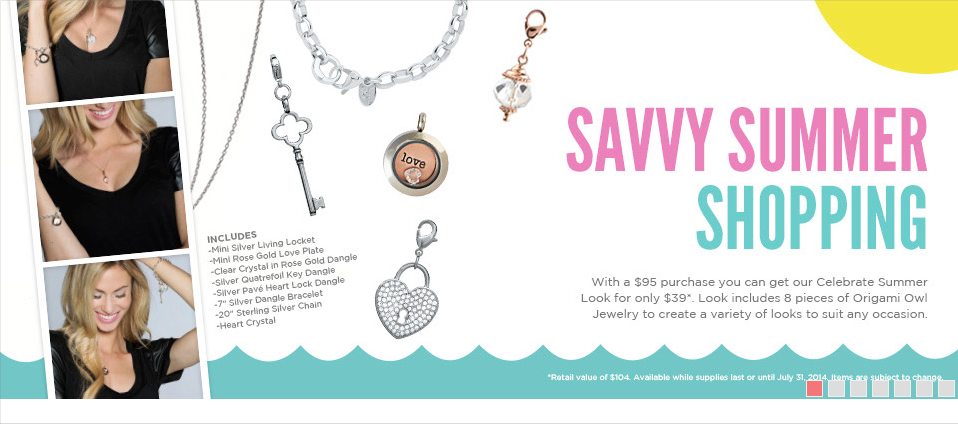 Celebrate Summer Look Origami Owl $39