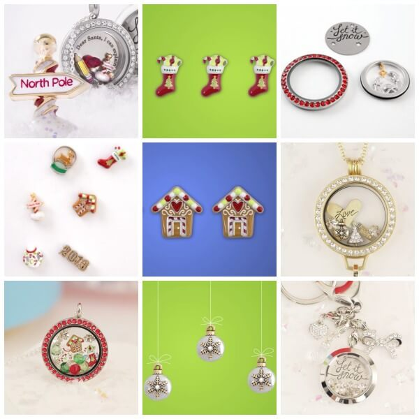 Origami Owl Holiday 2015 Charms