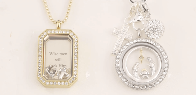 Origami Owl Nativity Charm and Window Plate