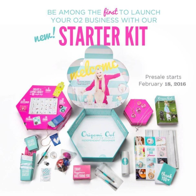 The o2 Starter $189 Origami Owl Feb 2016 Starter Kit