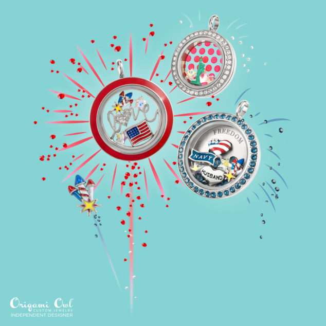 Freedom 4th of July USA Origami Owl Summer 2016