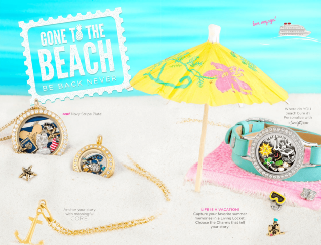 Gone to the Beach Origami Owl Jewelry