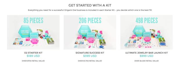 Spring 2016 Origami Owl Starter Kits