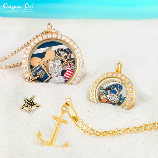Sumer Passport Travel Beach Origami Owl Summer Anchor