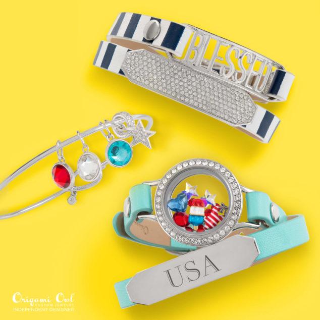 USA Origami Owl Bracelet Summer 2016