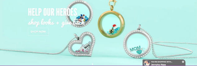 Help Our Heroes Origami Owl $19