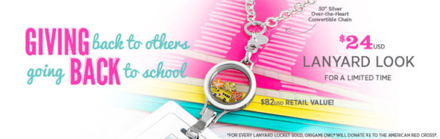 Origami Owl Giving Back Lanyard Look
