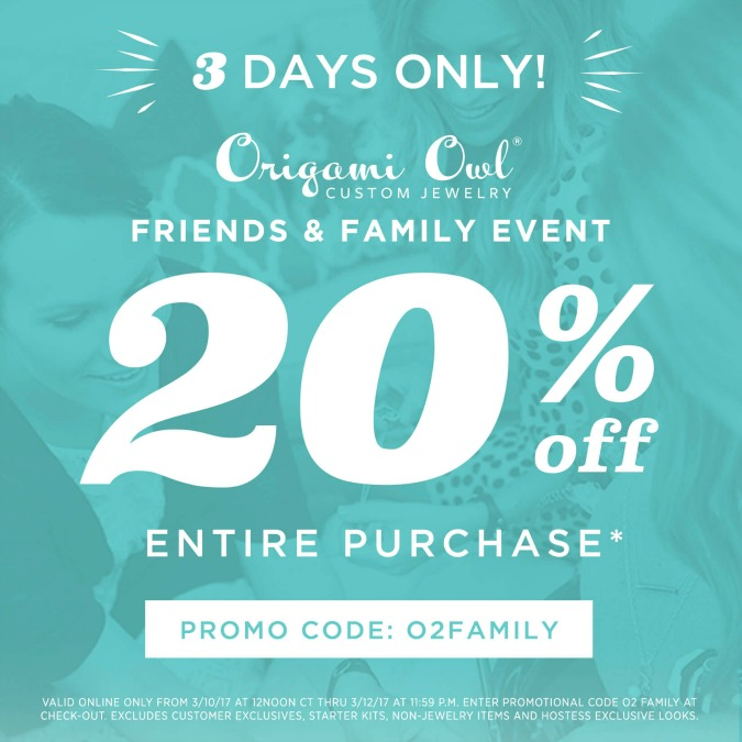 origami owl friends and family discount code origami owl
