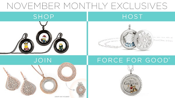 Origami Owl: November Customer Specials