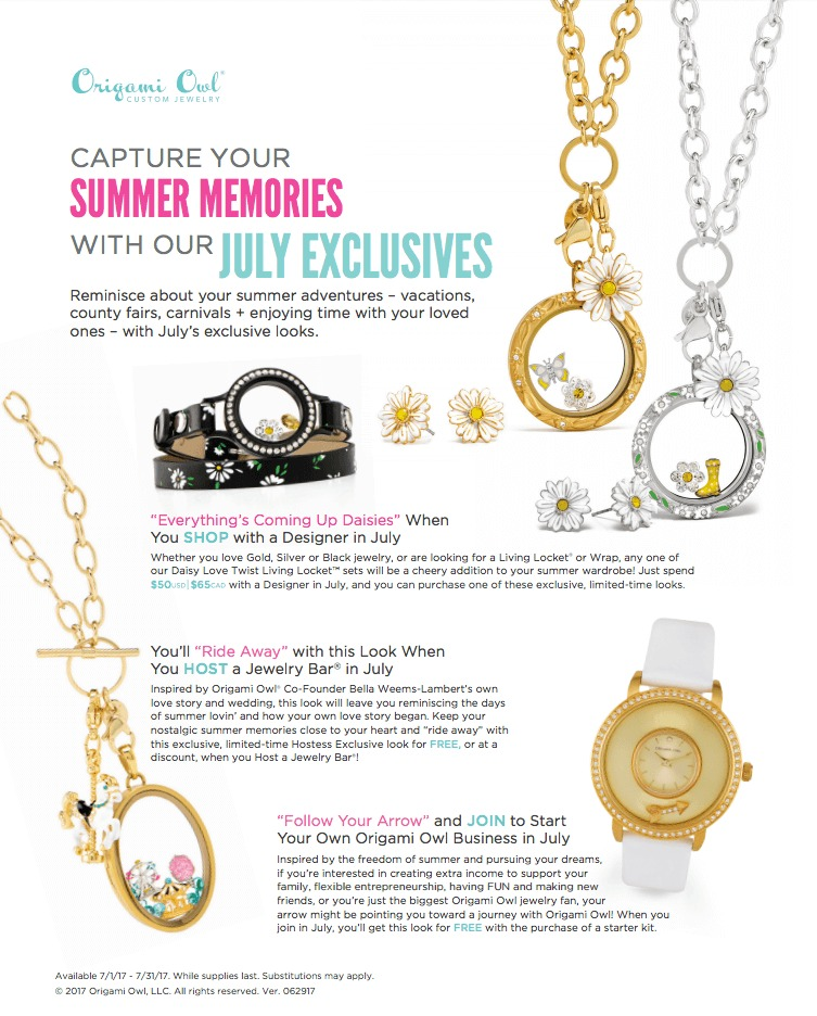 Origami Owl. Hostess rewards for August and September 2016 ... | 936x753