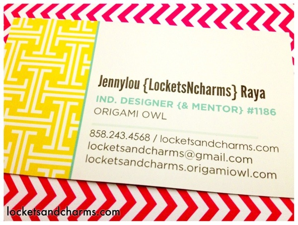 Origami Owl Business Cards For Independent Designers San Diego
