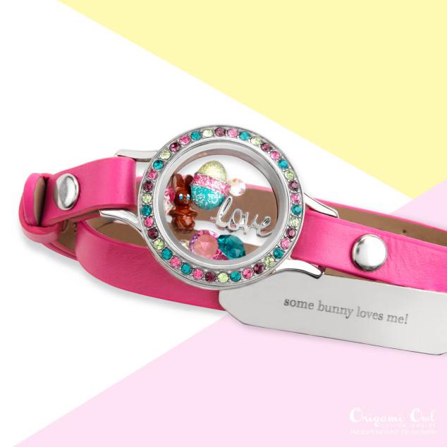 Origami Owl Jewelry | Large Locket Pink Swarovski Crystals | Poshmark | 634x634