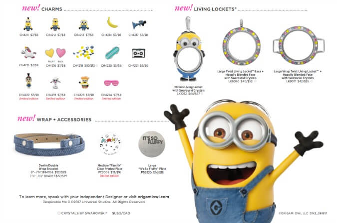 The Minions Are Here Despicable Me 3 Origami Owl San Diego