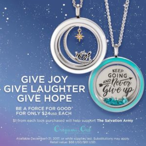 Christmas with The Salvation Army + Origami Owl Fundraiser